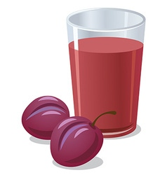Plums juice vector