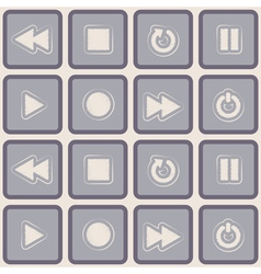 Seamless background with player icons vector