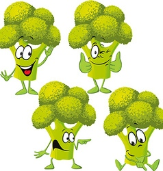 Broccoli - funny cartoon vector