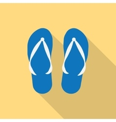 pair of blue summer flip flops vector image