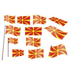 flag of Macedonia vector image
