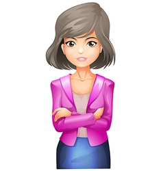 A lady with a pink blazer vector image vector image