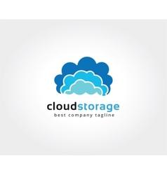 Abstract cloud brain logo icon concept logotype vector