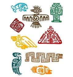 Ancient maya monsters vector