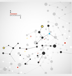 background network and connection vector image