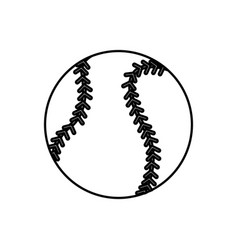 Baseball ball sport play equipment line vector