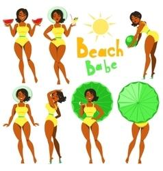 Beach babe - clip-art vector