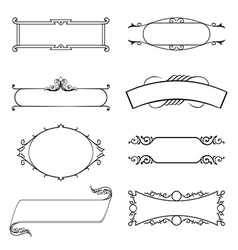 Calligraphic decorative elements set vector image vector image