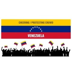Cheering or protesting crowd venezuela vector