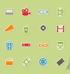 Cinema simply icons vector