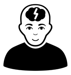 Clever boy flat icon vector