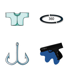 Clothes fishing and other web icon in cartoon vector