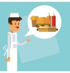 Delicius food chef icon delivery concept vector