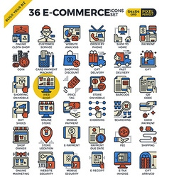 E-commerce business icons vector image vector image
