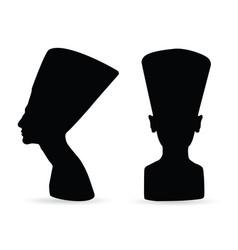 Egyptian queen nefertiti silhouette vector