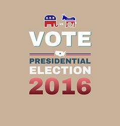 Elephant versus donkey vote 2016 vector