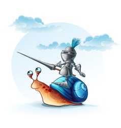 funny knight on the cochlea vector image vector image