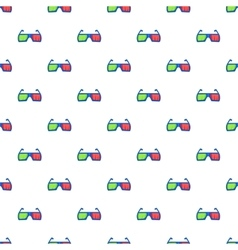 Glasses for 3d movie pattern cartoon style vector