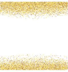 Golden dust gold glitter on white background vector
