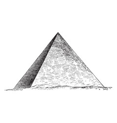 Great pyramid of giza egyptian architecture vector