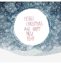 merry christmas snowing background vector image vector image
