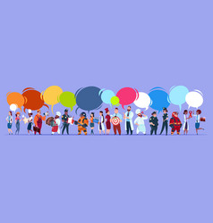 People group with chat bubbles different vector