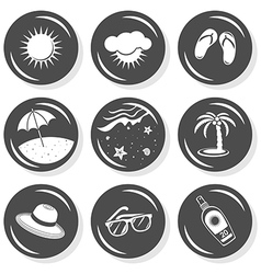 Summer swimming icons vector image vector image