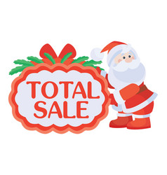 Total sale sticker for christmas discounts vector