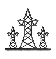 Transmission towers icon image vector