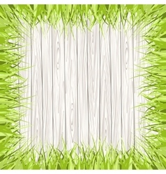 Wooden frame surrounded by grass vector