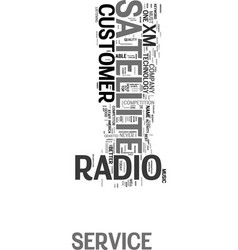 Xm satellite radio customer service text word vector