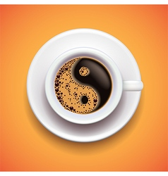Yin-yang coffe cup relax concept vector image