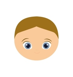 Boy kid blond head cartoon icon vector