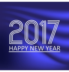 Happy new year 2017 on dark blue abstract color vector