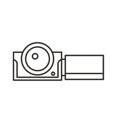 camera video film isolated icon vector image