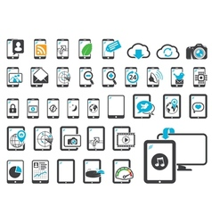 Icons of modern gadgets vector image