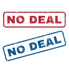No deal rubber stamps vector