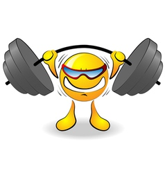 cartoon powerlifter vector image