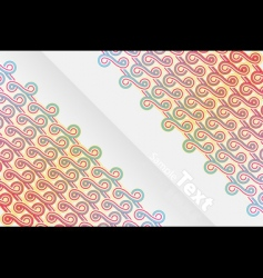 Vertical abstract ribbons design vector