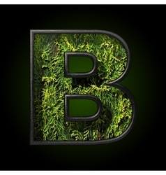 Grass cutted figure b vector