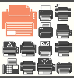 Printer icon sit vector