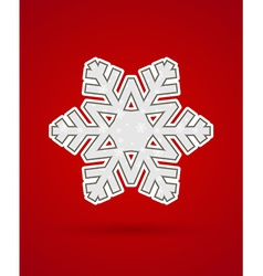 Cut out christmas snowflake vector