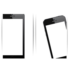 Realistic black smartphone background vector