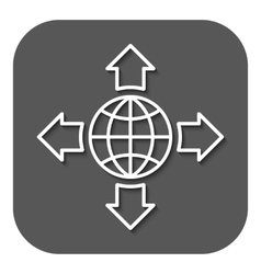The navigation icon location symbol flat vector