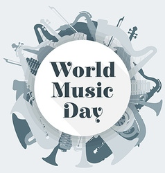 Abstract light colored international music day vector