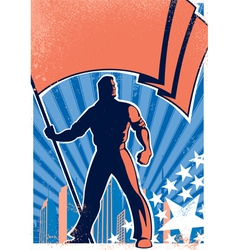 Flag bearer poster 2 vector