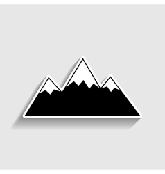 Mountain sign sticker style icon vector