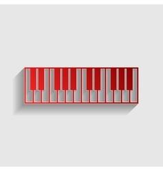 Piano Keyboard sign vector image