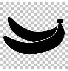 Banana simple sign flat style black icon on vector