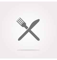 Dish fork and knife icon Dish fork and knife icon vector image